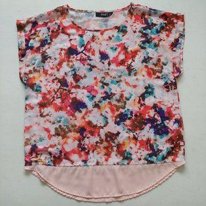 a.n.a. colorful flowy cherry blossom top